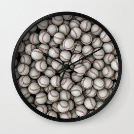 Baseballs Wall Clock