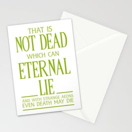 WITH STRANGE AEONS EVEN DEATH MAY DIE Stationery Cards