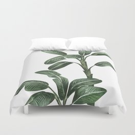 Banana Leaf Trees - Tropical Watercolour Trees illustration Duvet Cover