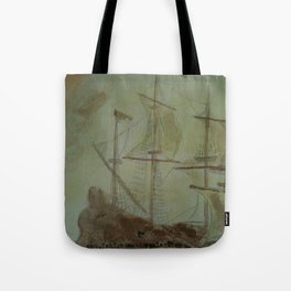 Ship - 13, Aug. 2010 - Tonight's Watercolor Tote Bag