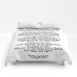 The Four Agreements #minimalist 3 Comforters