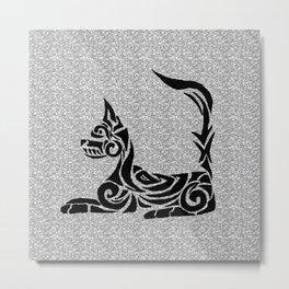 Tribal Cat Metal Print