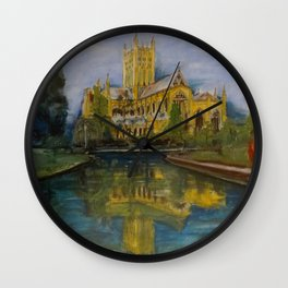 City of Wells in Somerset - Cathedral Wall Clock