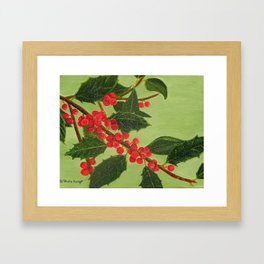 Jolly Holly Berries Framed Art Print