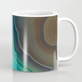 Lake Like Teal & Brown Agate Coffee Mug