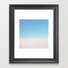 Cloud Carpet Framed Art Print