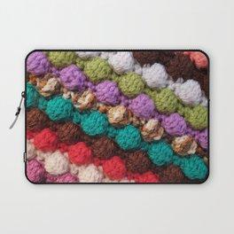 Bobbly colourful knitting Laptop Sleeve