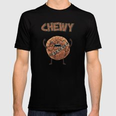 Chewy Chocolate Cookie Wookiee X-LARGE Mens Fitted Tee Black