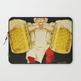 Vintage Biere Gangloff Beer Alcoholic Beverage Advertising Poster Laptop Sleeve