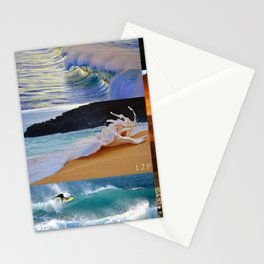 Nature Surf Collage Stationery Cards