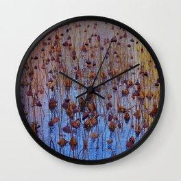 Dead Lotus Flower Wall Clock