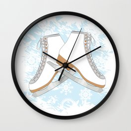 Ice skates Wall Clock