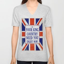 Vintage poster - Your King and Country Need You Unisex V-Neck