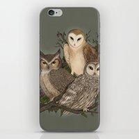 owls iPhone & iPod Skins featuring Owls by Jessica Roux