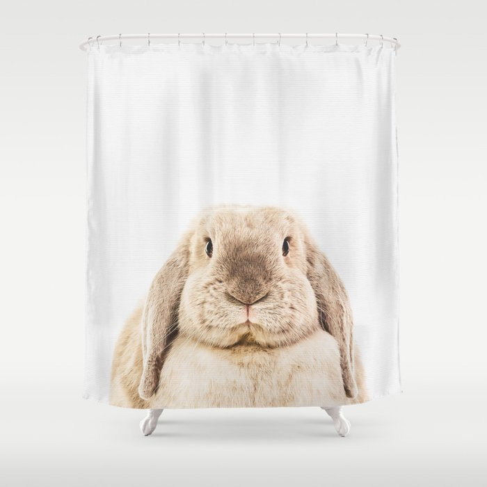 Bunny Rabbit Shower Curtain By Theark