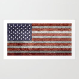United States of America Flag 10:19 G-spec Vintage Art Print