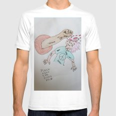 Punch to the Face!!! White Mens Fitted Tee MEDIUM