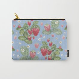 Watercolor strawberry pattern Carry-All Pouch