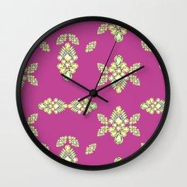 Jewelbox: Citrine Brooch on Dark Lipstick Wall Clock