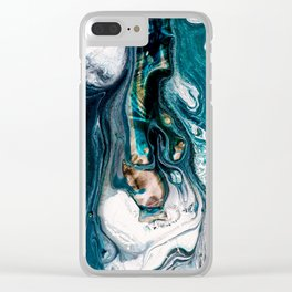 Abstract Melt VIII Clear iPhone Case