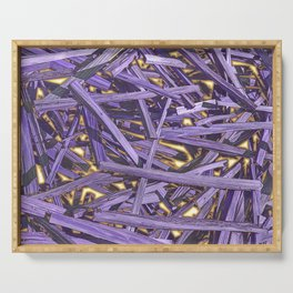 PURPLE KINDLING AND GLOWING EMBERS ABSTRACT Serving Tray