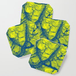 Abstract - in yellow & green Coaster