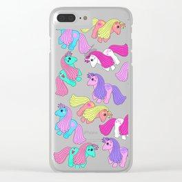 Priscilla's Ponies Clear iPhone Case