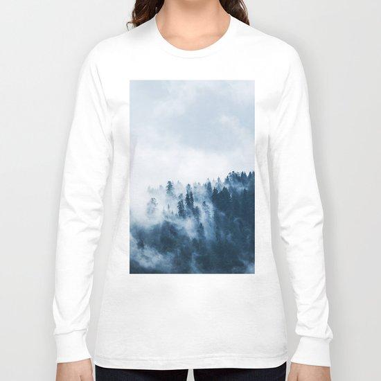 Smoke & Fog #blue Long Sleeve T-shirt