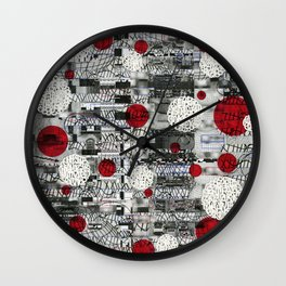 The Importance of Measuring Feet / The Needs of the Business (P/D3 Glitch Collage Studies) Wall Clock