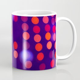 Blurred Indigo and Orange Lights Coffee Mug