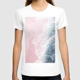 Blush Pink Blue Ocean Dream Waves #1 #water #decor #art #society6 T-shirt