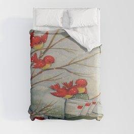 Vintage Christmas Birds Comforters