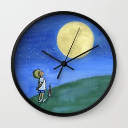 Little Boy and The Man in the Moon Wall Clock
