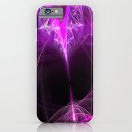 The beginning-attraction- fractal heart iPhone Case