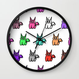 The Multicolor Pussy Cat Parade Wall Clock