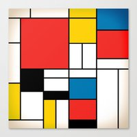 mondrian Canvas Prints featuring Mondrian  by Studio 401