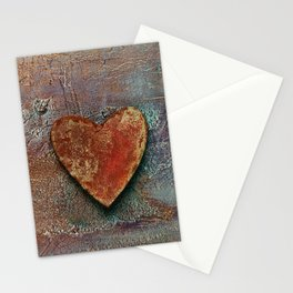 Rusty grunge love heart Stationery Cards