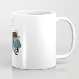 Moped with Mirrors and Bench Coffee Mug