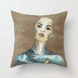 SeaBorn Gold Struck #5 Throw Pillow
