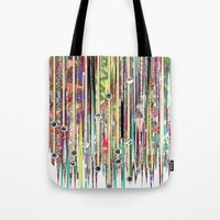 fringe Tote Bags featuring Fringe Benefits by Lynsey Ledray