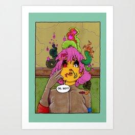 Neighbourhood Of Infinity, splash page. Art Print