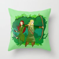 legolas Throw Pillows featuring Legolas by hikary