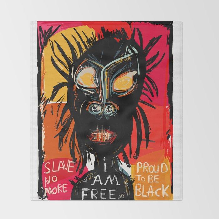 Slave no more Throw Blanket