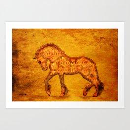 HORSE - Steampunk Art Print