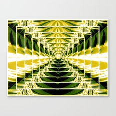 Abstract.Green,Yellow,Black,White,Lime. Canvas Print