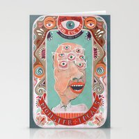 monster Stationery Cards featuring Monster Focals by Valeriya Volkova