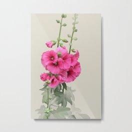 Pink flowers, watercolors Metal Print