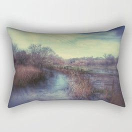 Whimsical Fields of Winter Rectangular Pillow