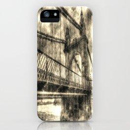 Vintage Hammersmith Bridge London iPhone Case