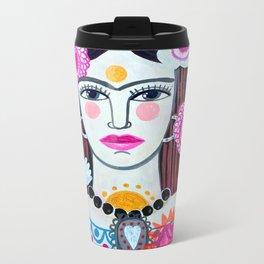 Beautiful Frida Metal Travel Mug